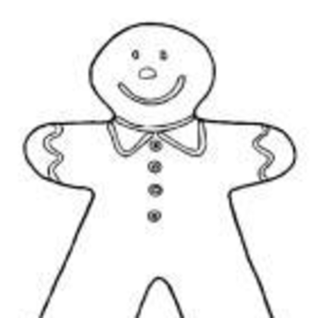 Printable gingerbread man coloring pages