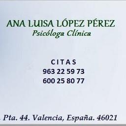 Ana Luisa López Pérez - Mi Consulta Psicológica - Valencia
