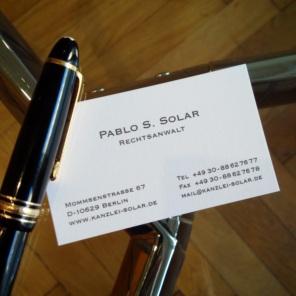 Pablo S. Solar - Rechtsanwalt - Solar Rechtsanwalt / Abogado ...